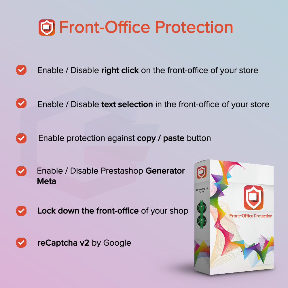 module - Security & Access - Front-Office Protection PRO - 1