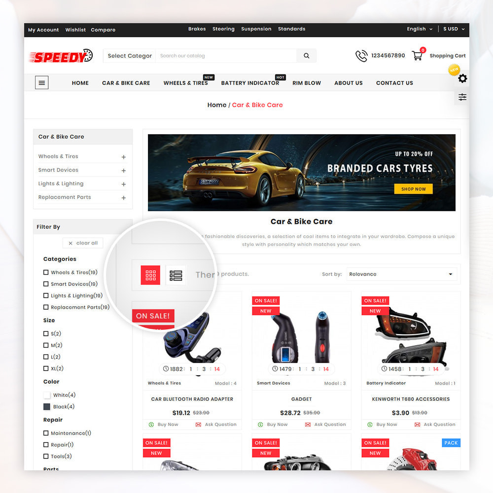 theme - Авто и Мото - AutoKart AutoPart Store - 3