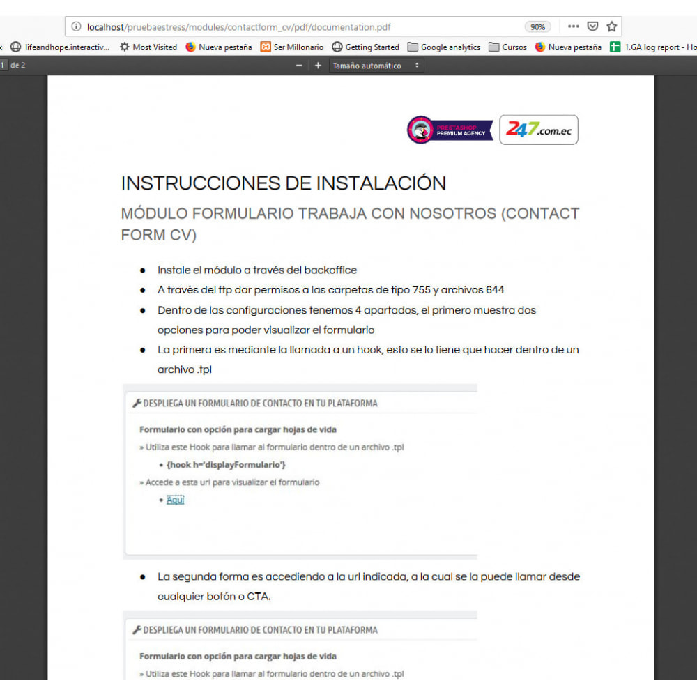 module - Kontaktformular & Umfragen - Contact Form CV - 7