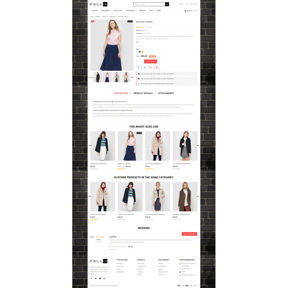 theme - Mode & Chaussures - Fallin - Apparel Store - 5