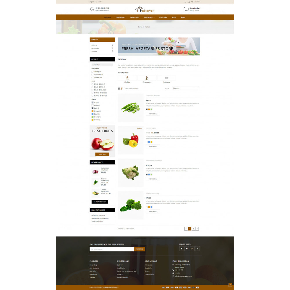 theme - Food & Restaurant - FreshVeg - Grocery Store - 4