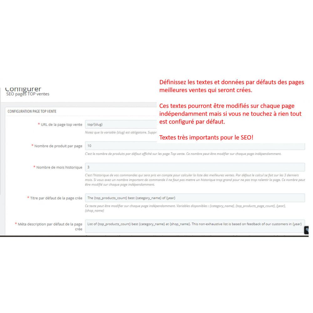 module - SEO (référencement naturel) - SEO pages meilleures ventes - 2