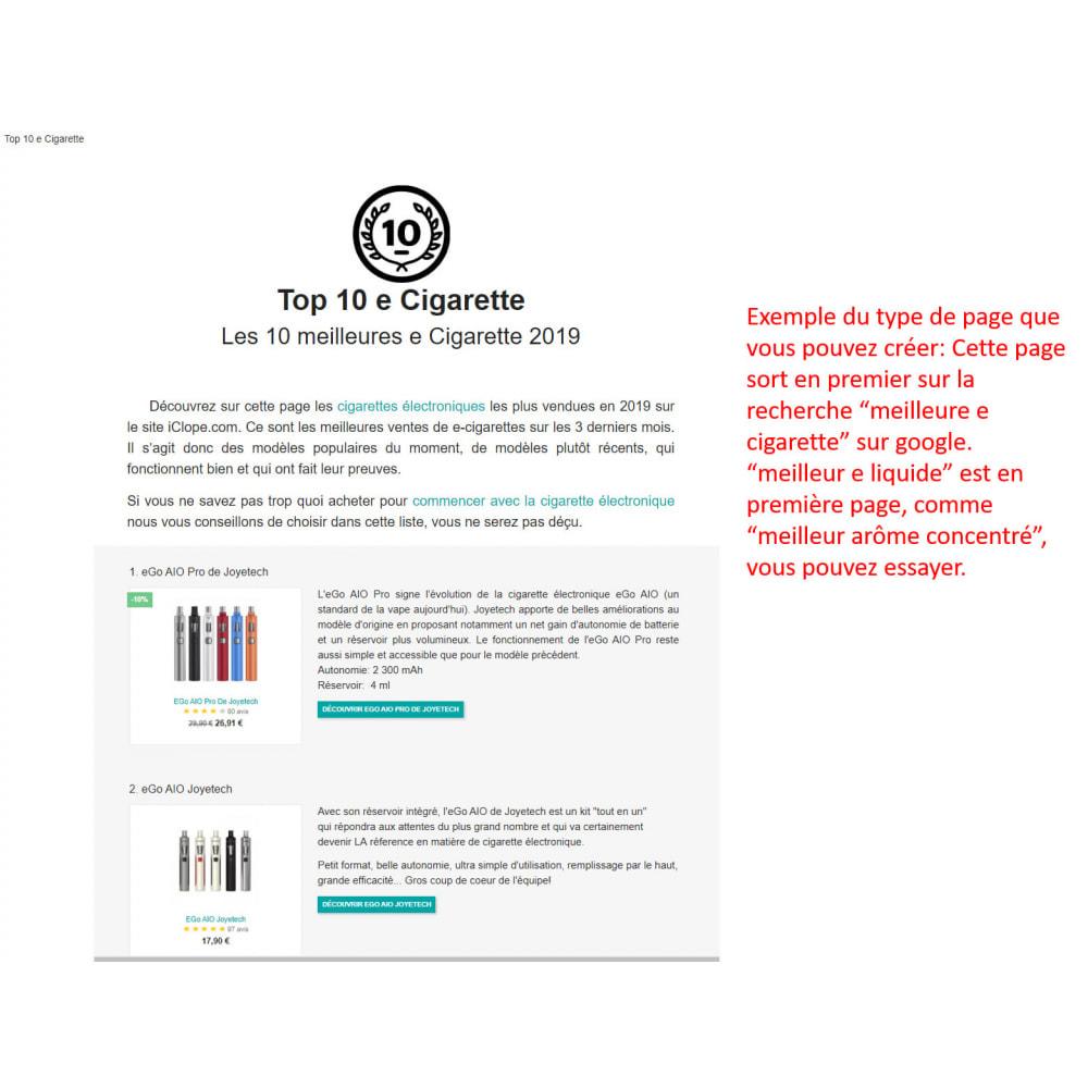 module - SEO (référencement naturel) - SEO pages meilleures ventes - 8
