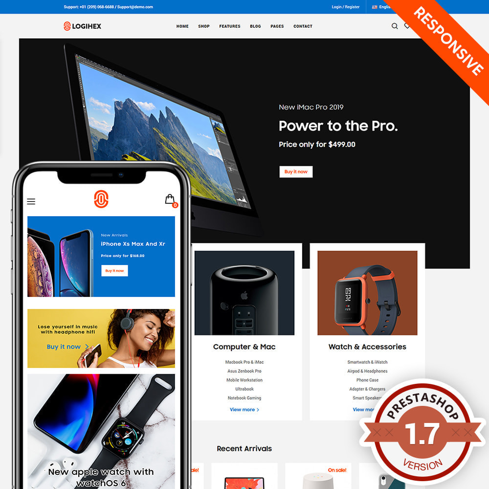 theme - Electronics & Computers - Logihex Digital Store - 2