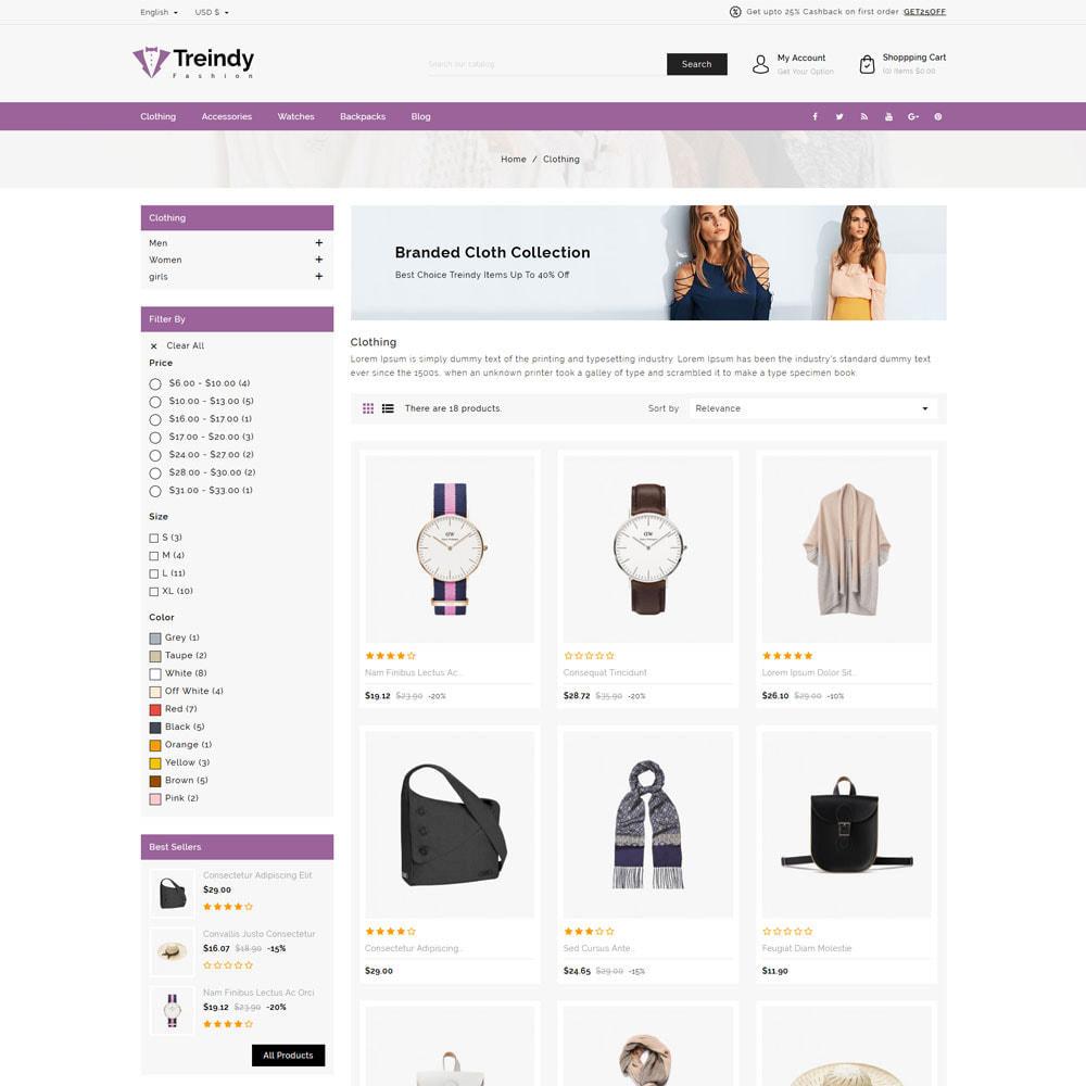 theme - Fashion & Shoes - Treindy Fashion Shop - 3