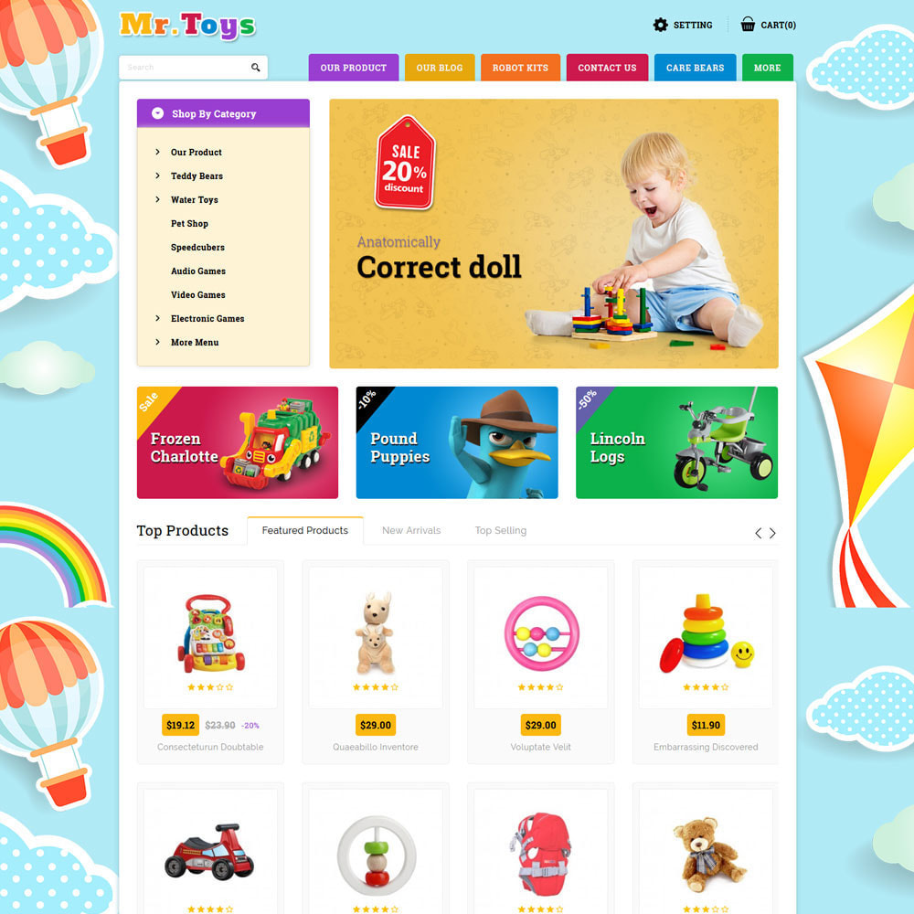 theme - Kids & Toys - Mr Toys - The Toy Shop - 3