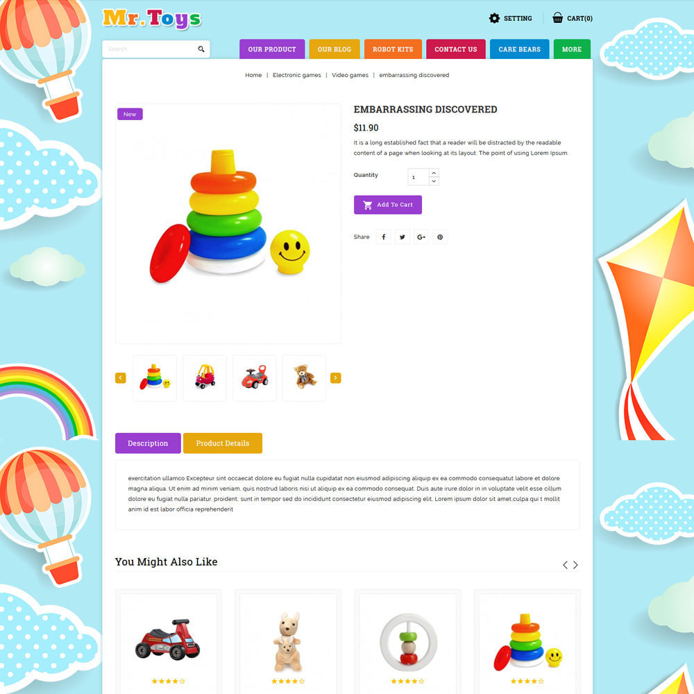 theme - Kids & Toys - Mr Toys - The Toy Shop - 6