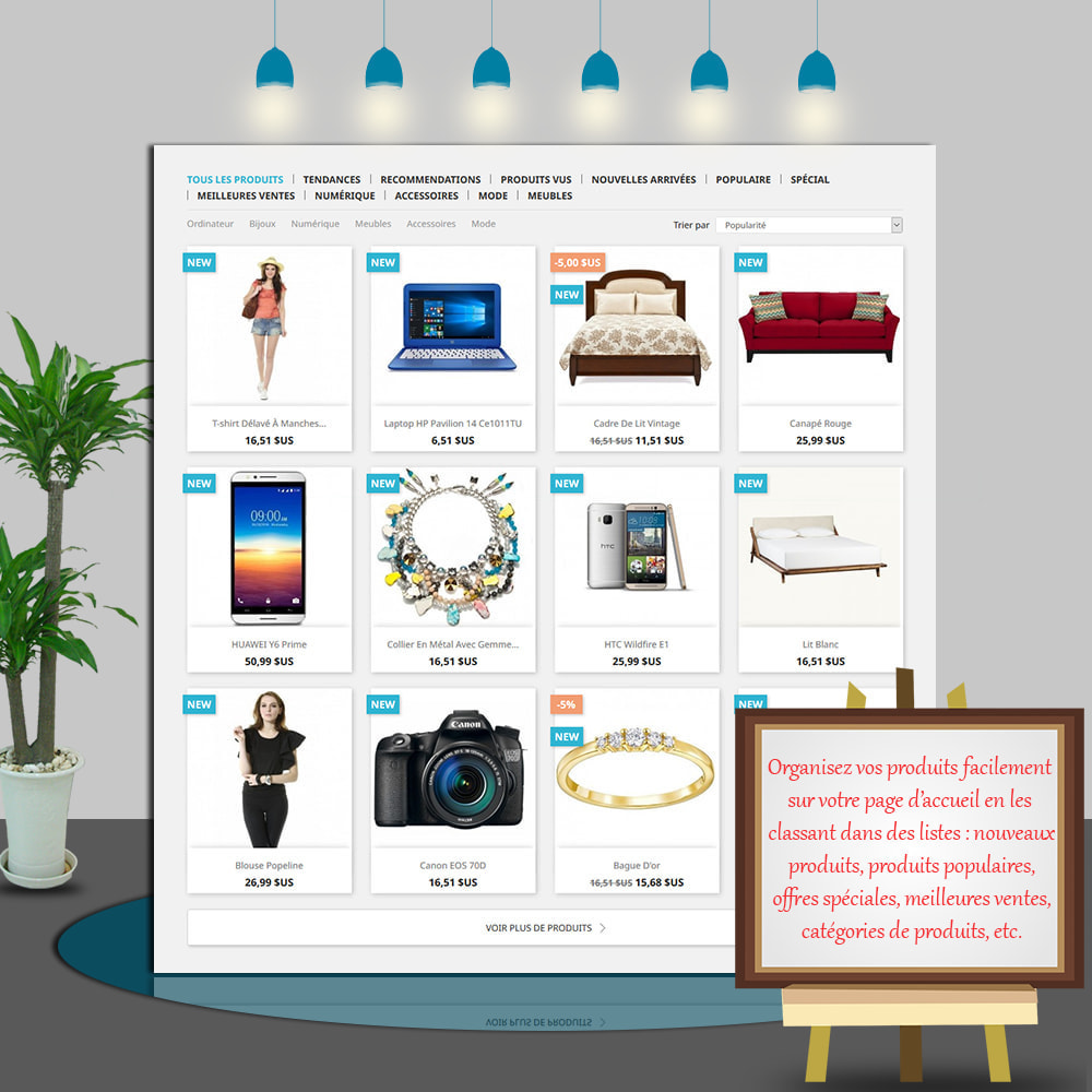 module - Produits en page d'accueil - Home Products PRO-Listes produit personnalisables - 3