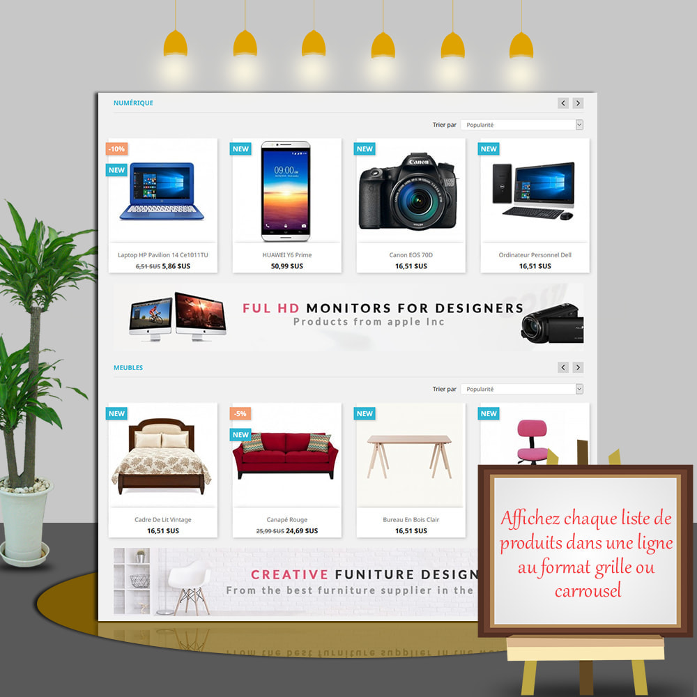 module - Produits en page d'accueil - Home Products PRO-Listes produit personnalisables - 4