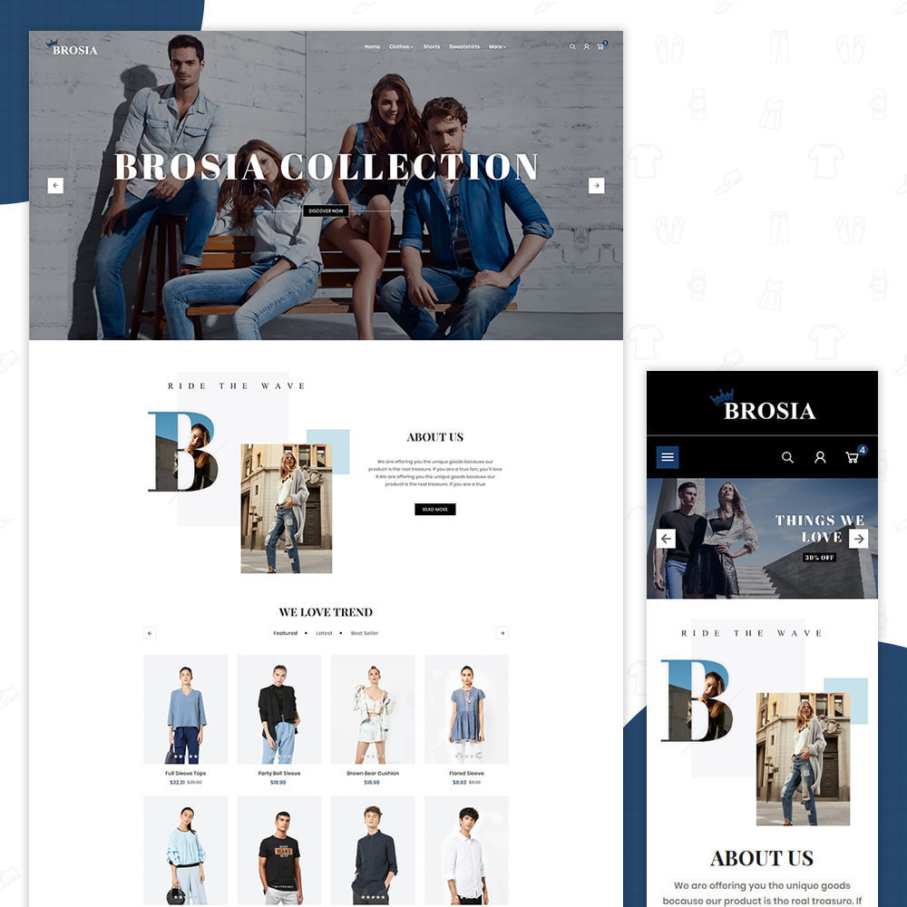 theme - Fashion & Shoes - Digital Fashon- Brosia Fashon Store - 1