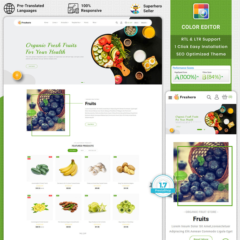 theme - Food & Restaurant - Freshero - The Best Organic Store - 1