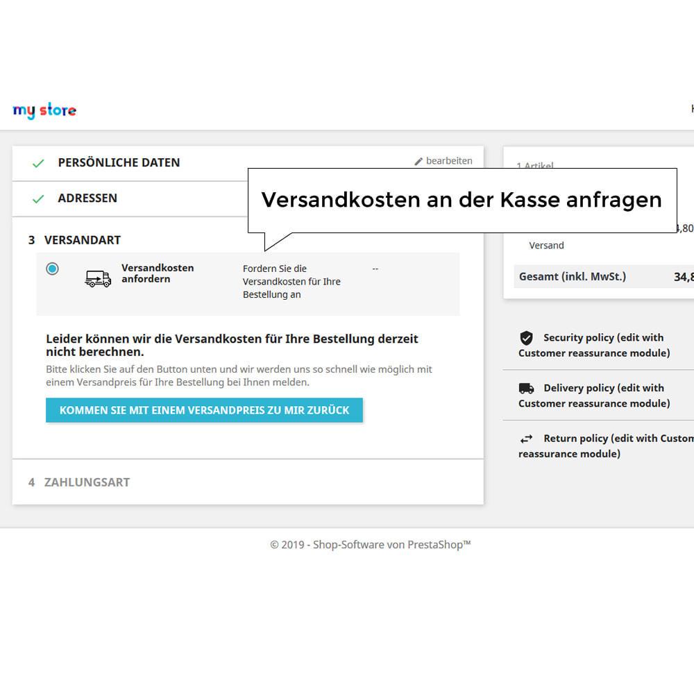 module - Versandkosten - Versandangebot - Kundenspezifische Versandrate - 2