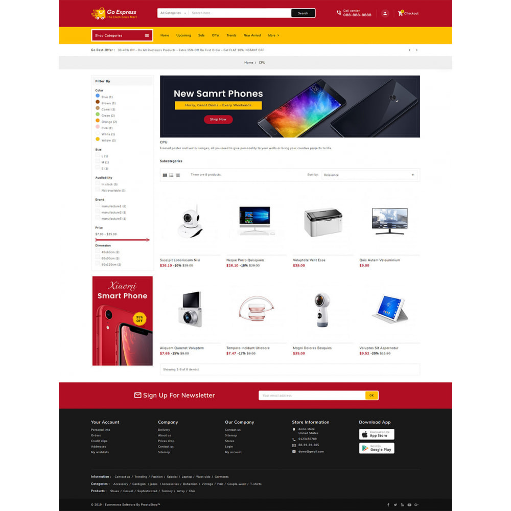 theme - Electronics & Computers - Go Express - Multi Purpose Mega Store - 22