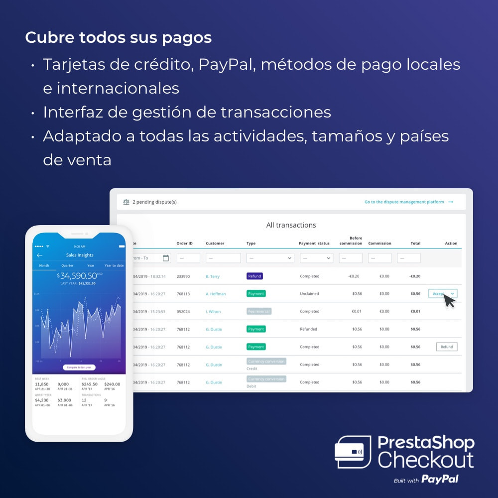 module - Pago con Tarjeta o Carteras digitales - PrestaShop Checkout 2.0 built with PayPal - 5