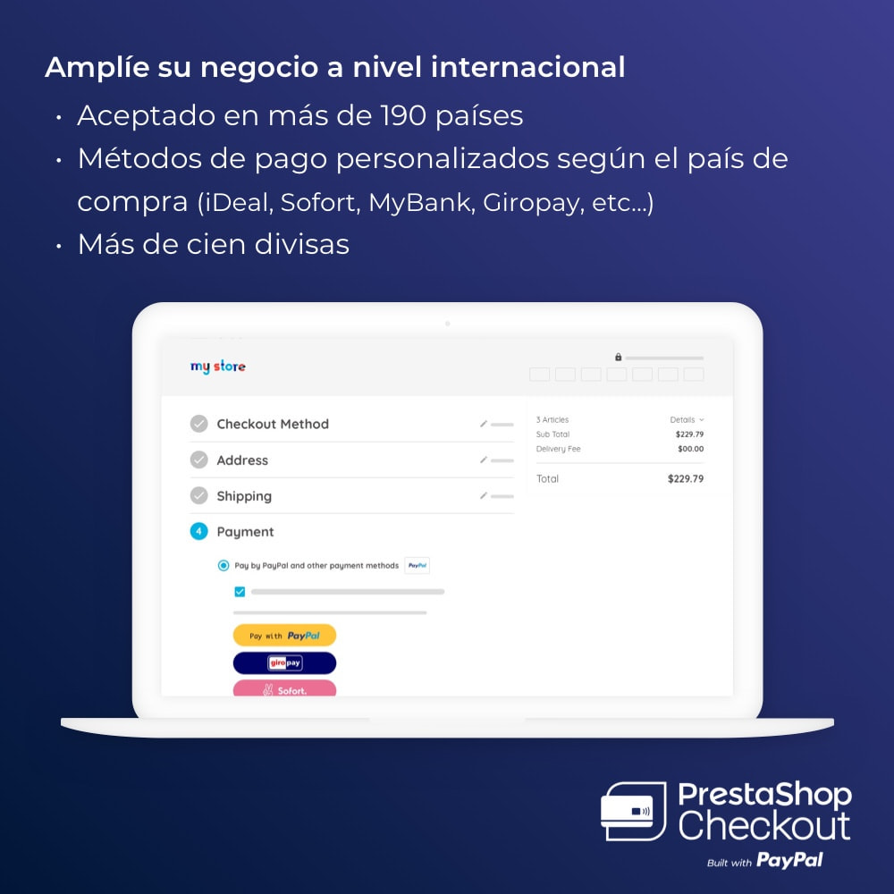 module - Pago con Tarjeta o Carteras digitales - PrestaShop Checkout 2.0 built with PayPal - 6