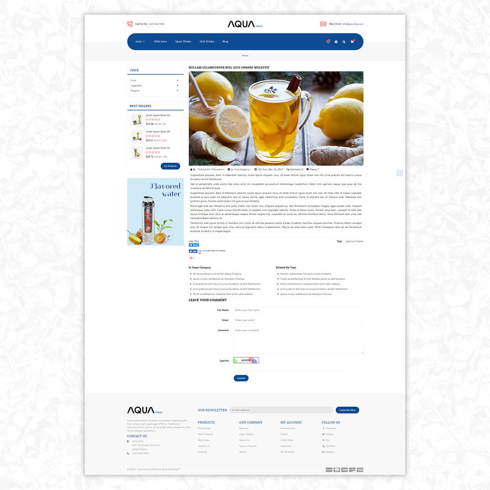 theme - Alimentation & Restauration - Aqua. Flavor - 8