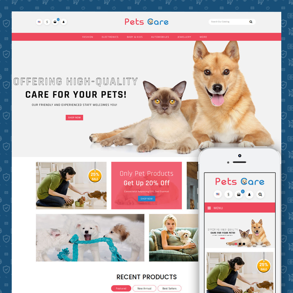 theme - Animales y Mascotas - Pets Care - Animals Store - 1