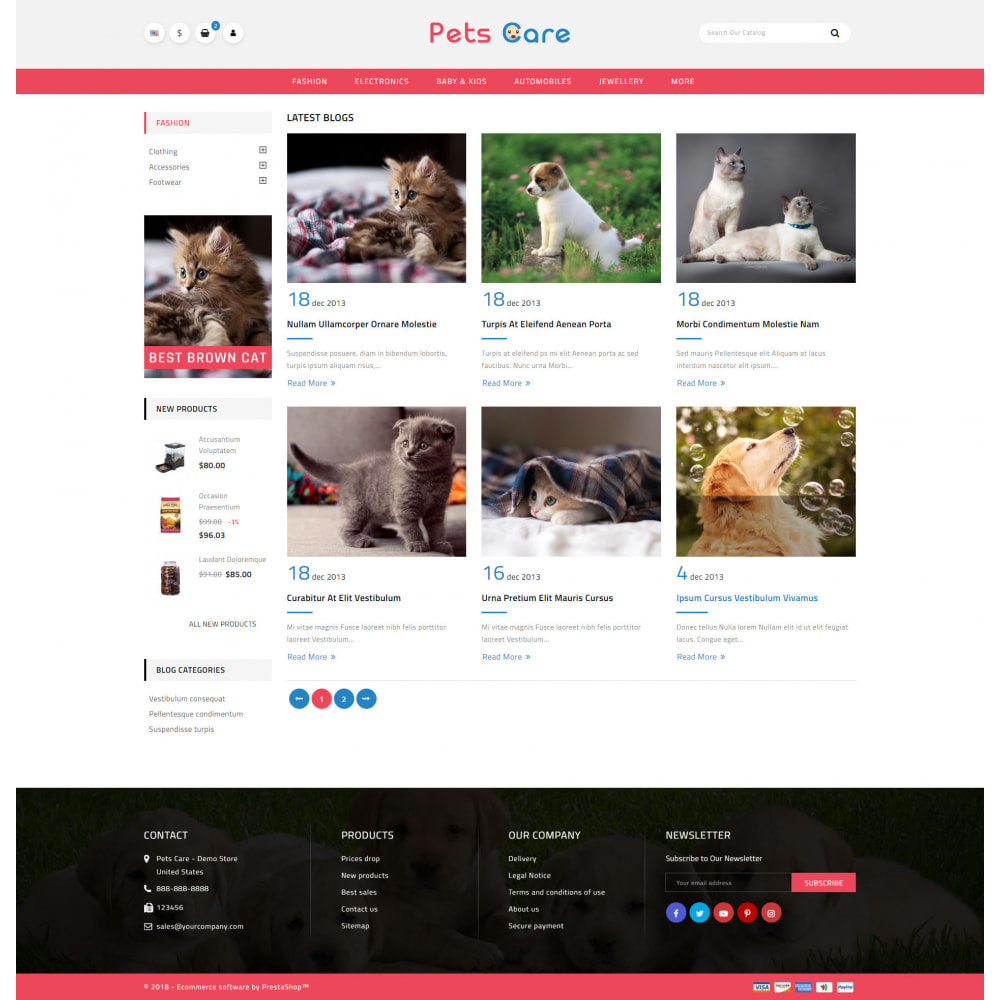 theme - Animales y Mascotas - Pets Care - Animals Store - 9