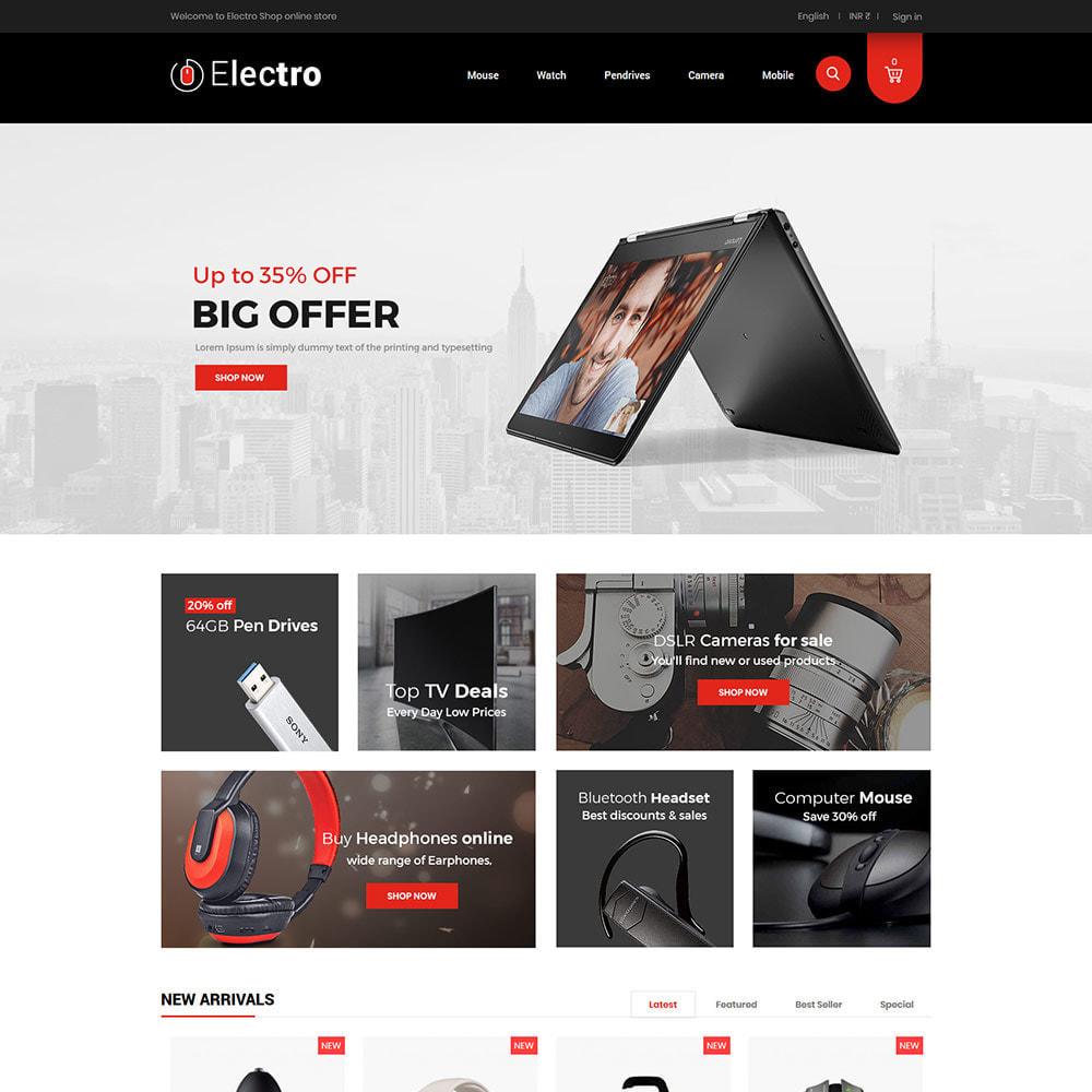 theme - Electronics & Computers - Electronics Mobile Digital  - Computer Laptop Store - 2
