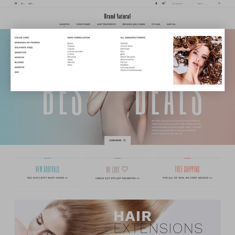 theme - Santé & Beauté - BrandNatural - Beauty Hair Salon - 7