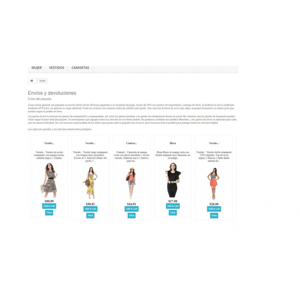 module - Informaciones adicionales y Pestañas - Insert Products Everywhere - 5