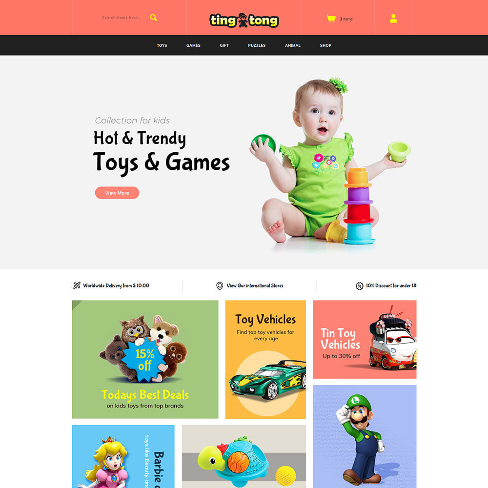 theme - Enfants & Jouets - Toy Kids - Baby Fashion Store - 1