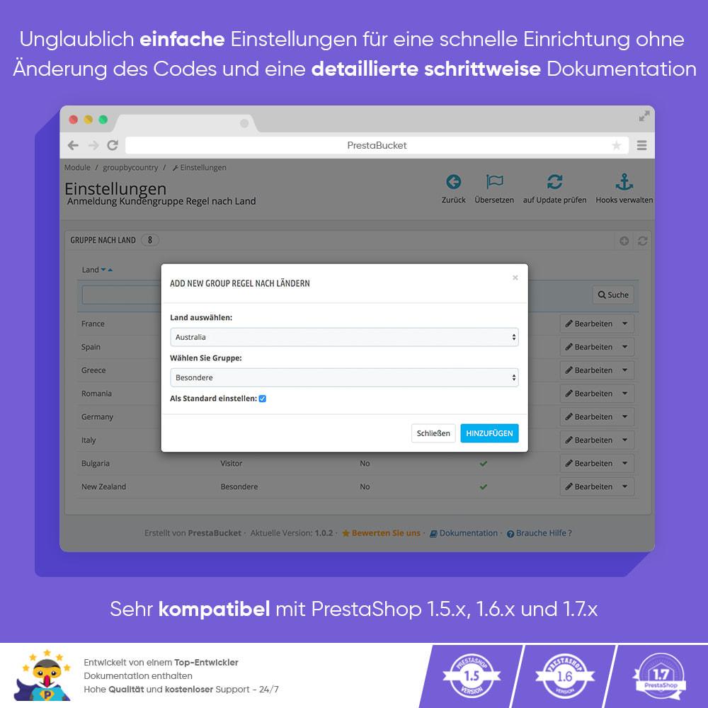 module - Kundenverwaltung - Registrierungs-Kundengruppenregel nach Land - 3