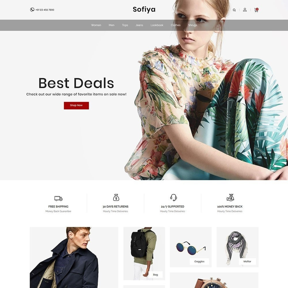theme - Mode & Chaussures - Sofiya Fashion  -Designer Cloth  Store - 2