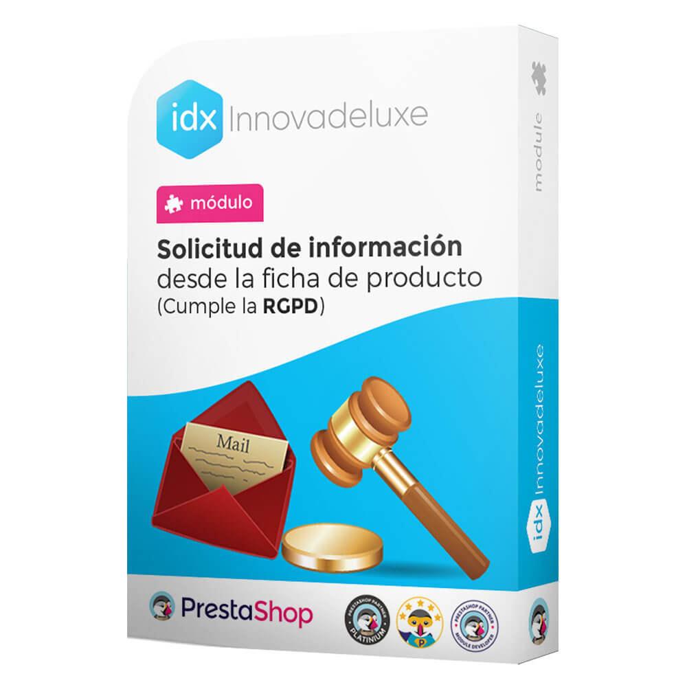 module - Marco Legal (Ley Europea) - Formulario de contacto desde Ficha de Producto - 1