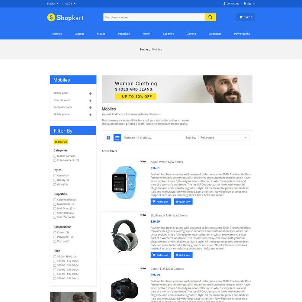 theme - Elektronica & High Tech - Shopkart Electronics - Digitale mobiele winkel - 5