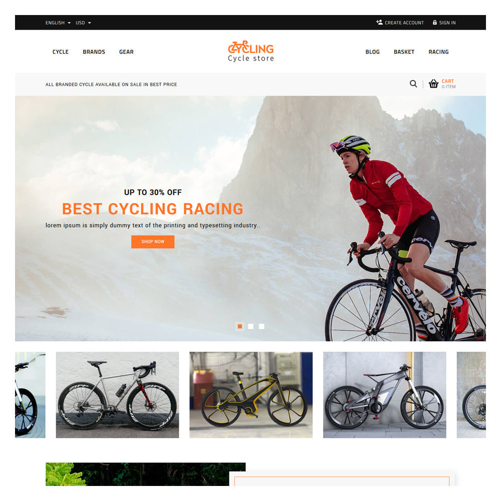 theme - Samochody - Cycling Bicycle store - 2