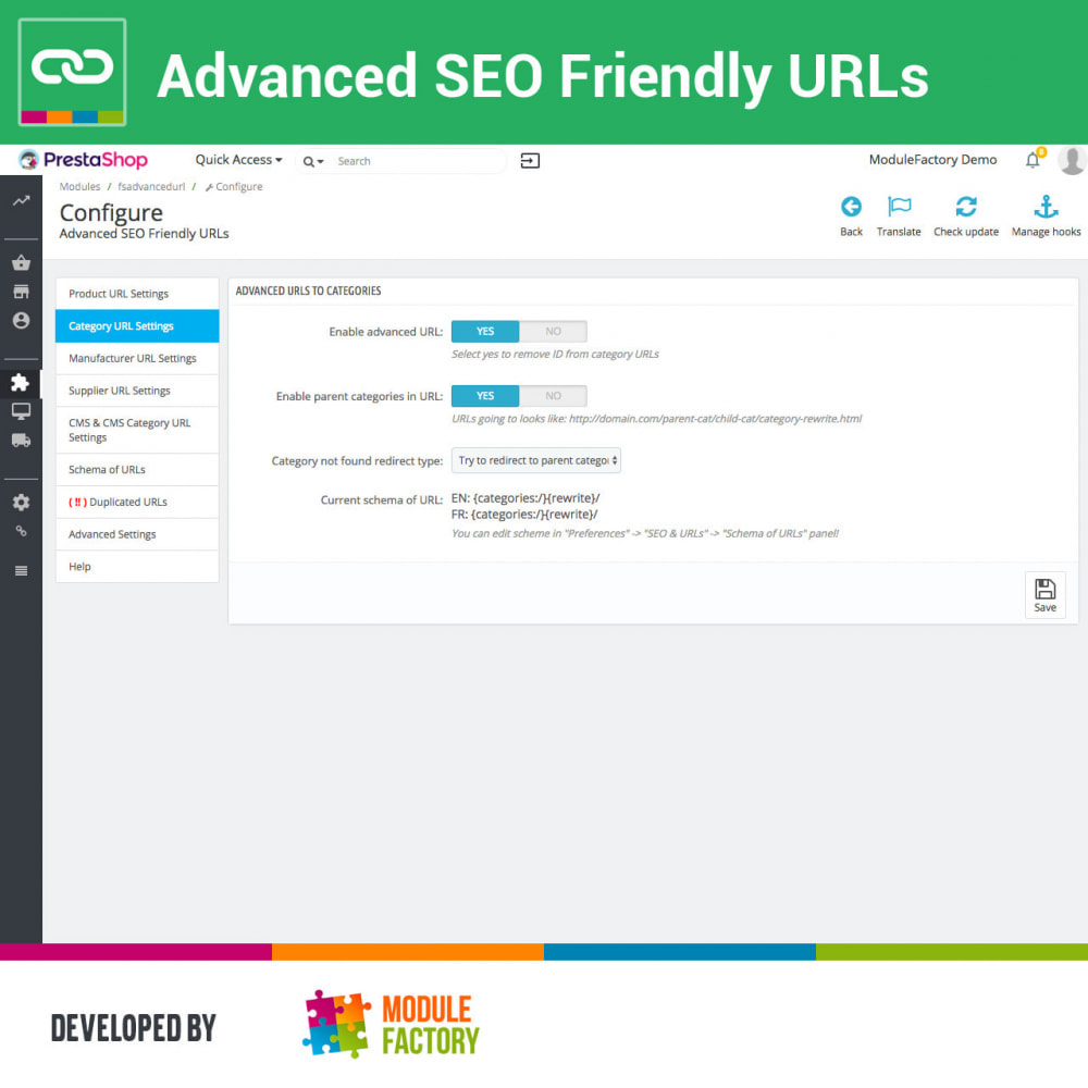 module - Gestão de URL & Redirecionamento - Advanced SEO Friendly URLs - 2