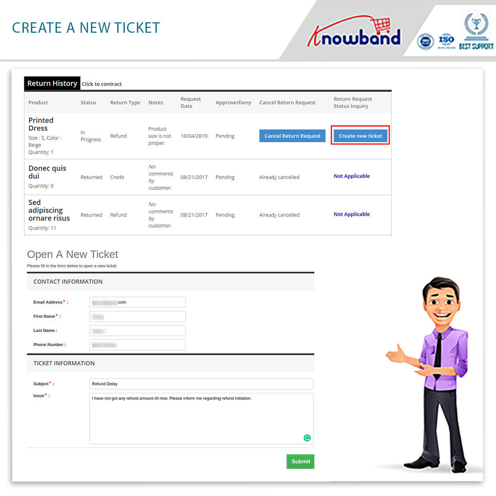 module - Customer Service - Knowband - Order Return Manager(Return Slip & Barcode) - 6
