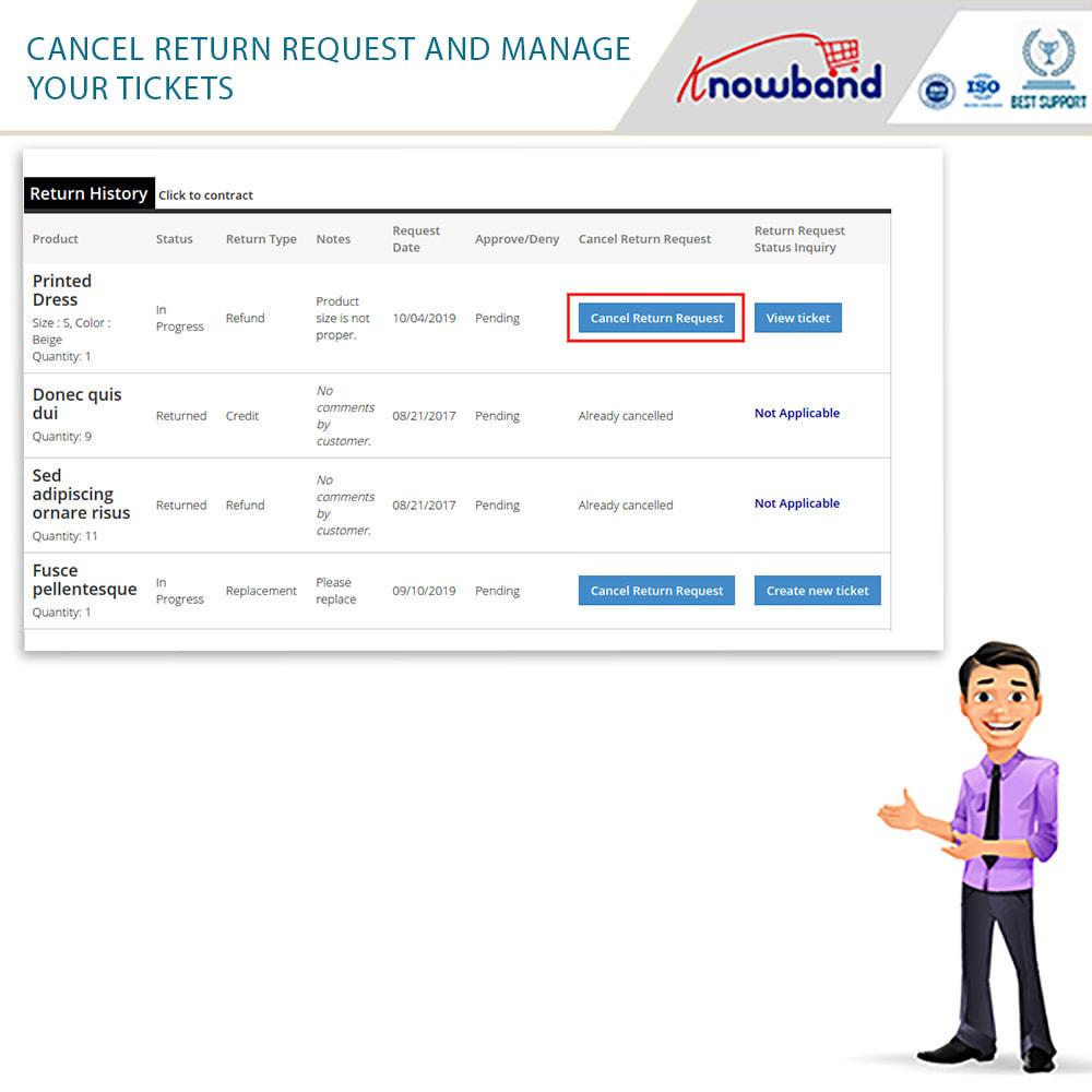 module - Klantenservice - Knowband - Order Return Manager(Return Slip & Barcode) - 8