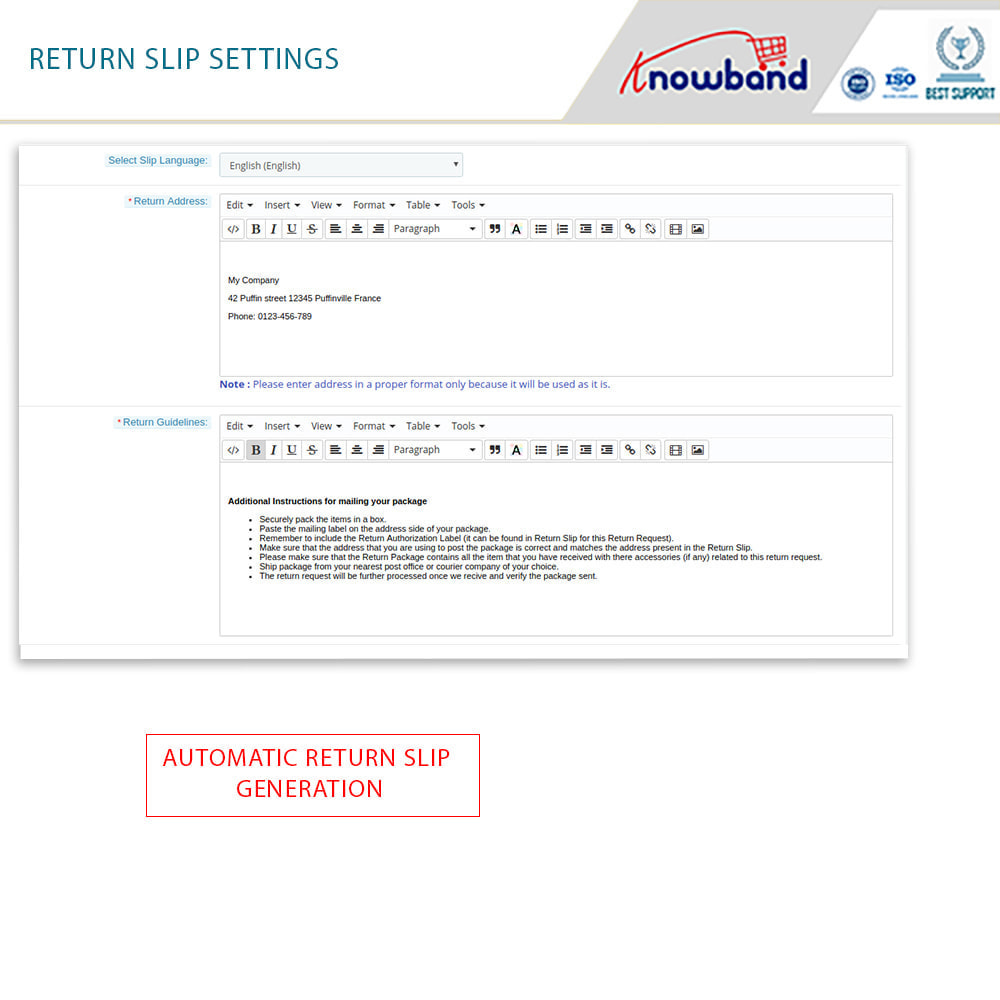 module - Customer Service - Knowband - Order Return Manager(Return Slip & Barcode) - 11