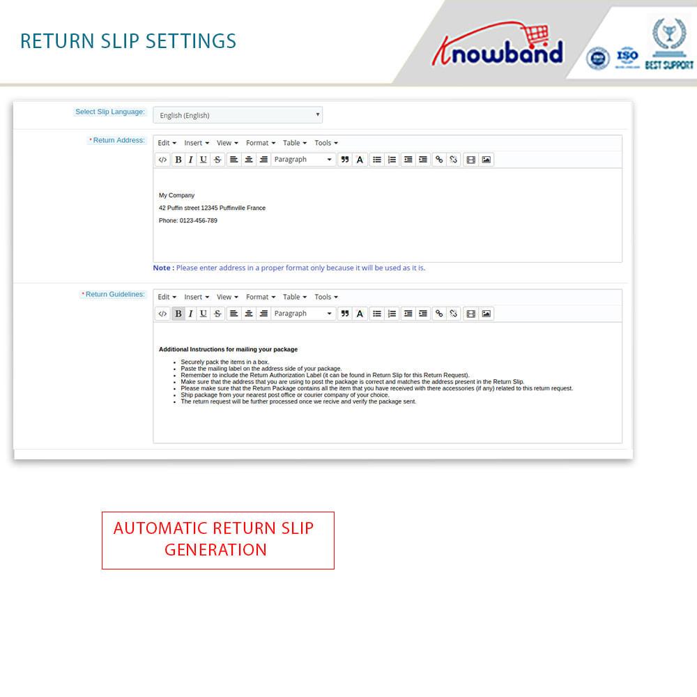 module - Klantenservice - Knowband - Order Return Manager(Return Slip & Barcode) - 11