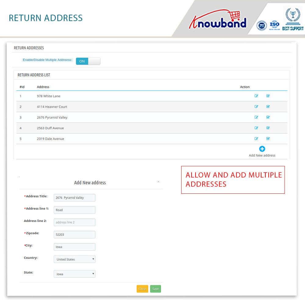 module - Customer Service - Knowband - Order Return Manager(Return Slip & Barcode) - 15