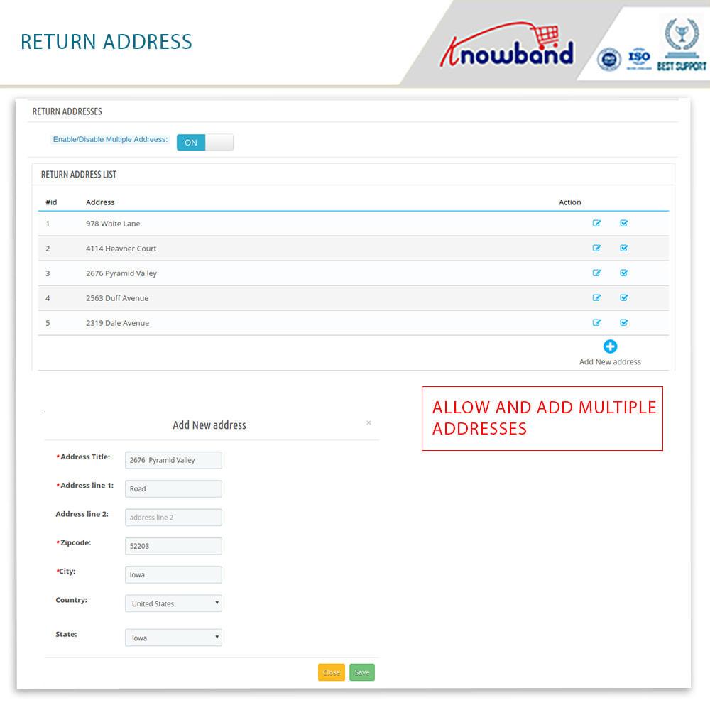 module - Klantenservice - Knowband - Order Return Manager(Return Slip & Barcode) - 15