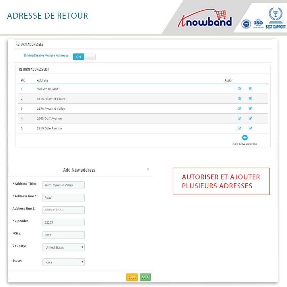 module - Service Client - Knowband - Gestionnaire de Retour des Commandes - 15