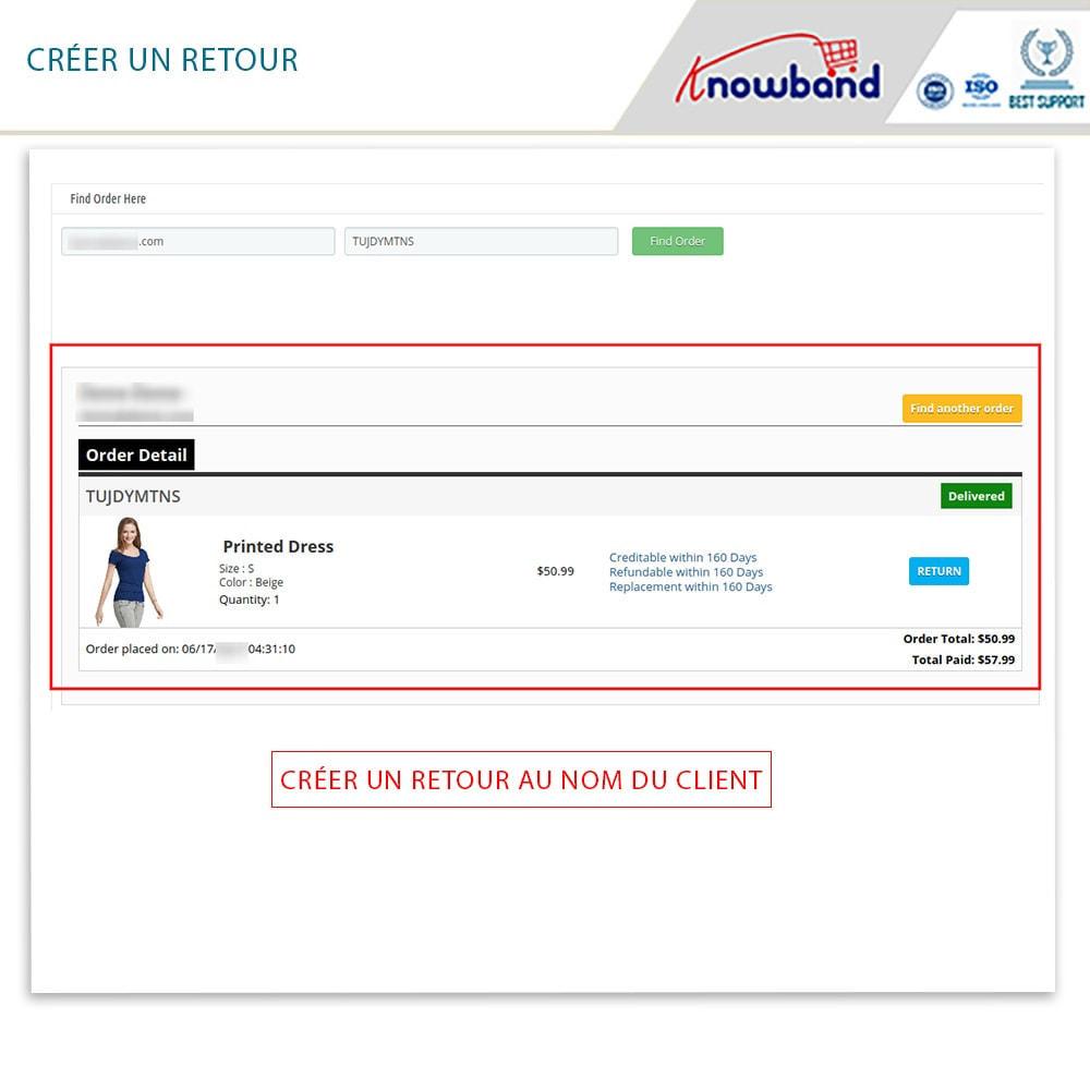 module - Service Client - Knowband - Gestionnaire de Retour des Commandes - 16