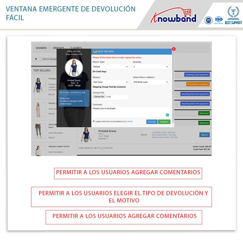 module - Servicio posventa - Knowband - Gestor de Devolución de Pedidos - 4
