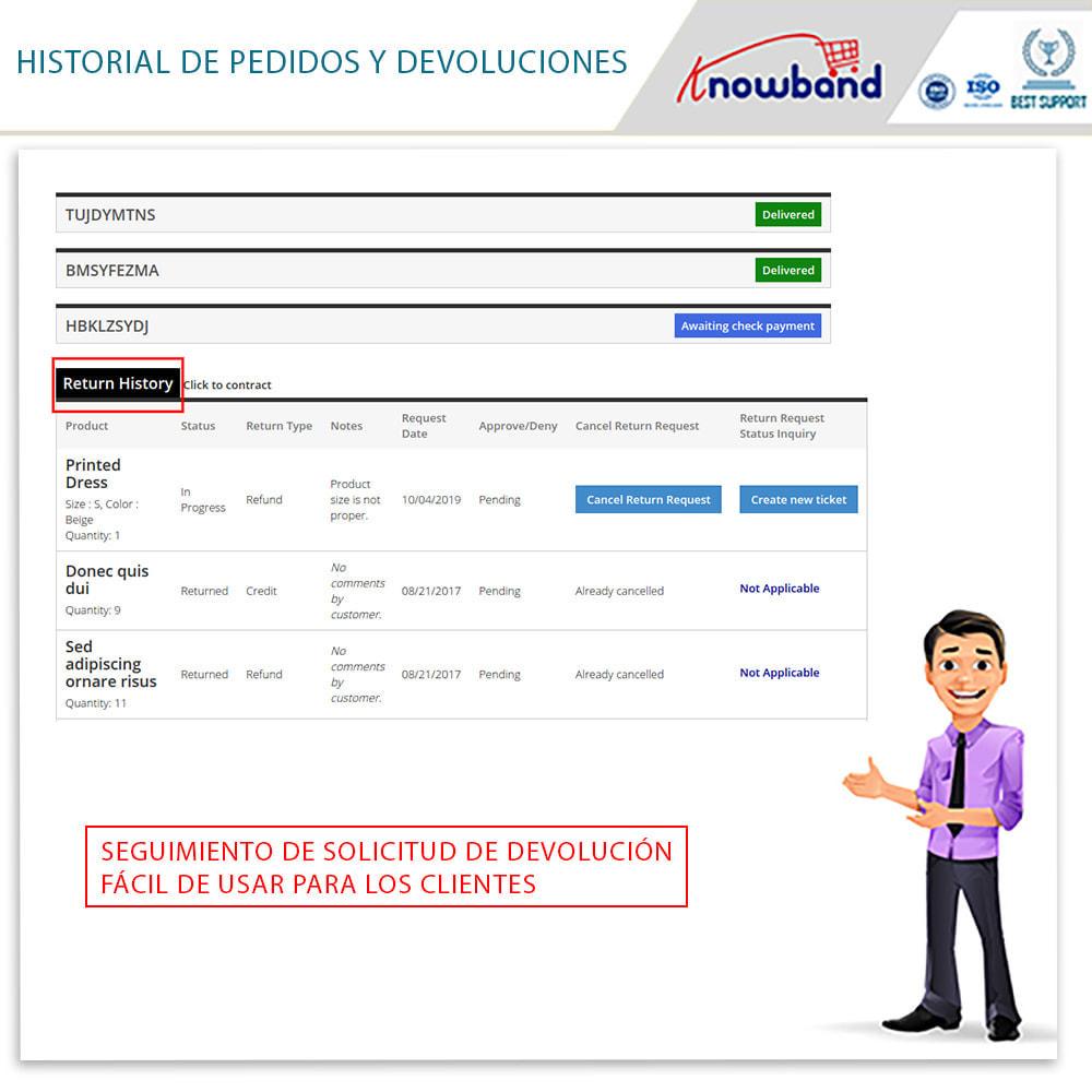 module - Servicio posventa - Knowband - Gestor de Devolución de Pedidos - 5