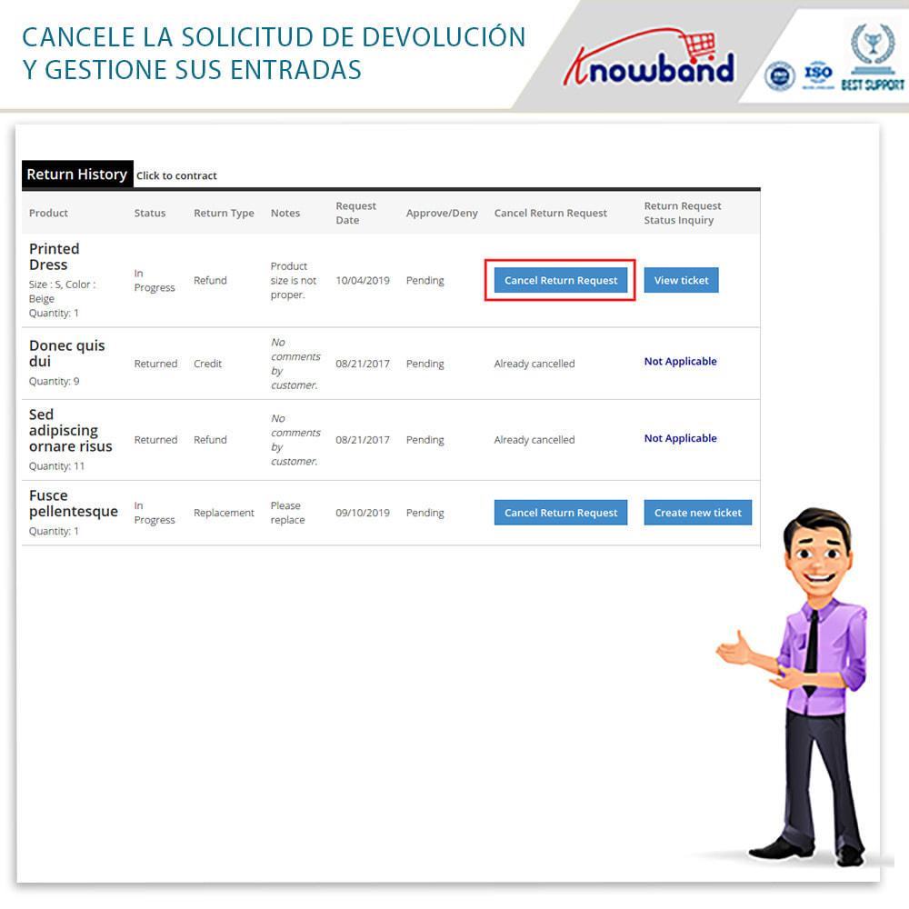 module - Servicio posventa - Knowband - Gestor de Devolución de Pedidos - 8
