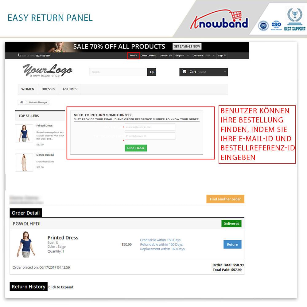 module - Kundenservice - Knowband - Bestellrückleiter-Rückschein mit Barcode - 2