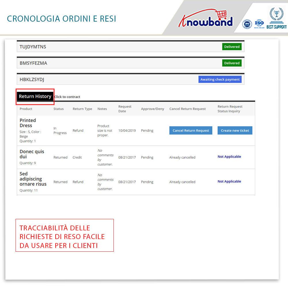 module - Servizio post-vendita - Knowband - Gestore Ordini di Restituzione - 5