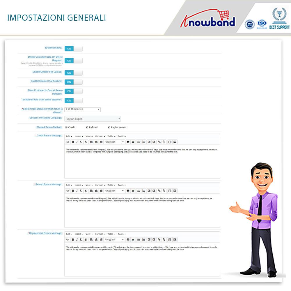 module - Servizio post-vendita - Knowband - Gestore Ordini di Restituzione - 9