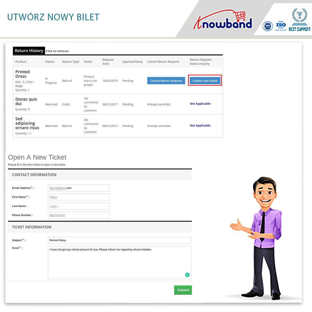 module - Serwis posprzedażowy - Knowband - Order Return Manager(Return Slip & Barcode) - 5