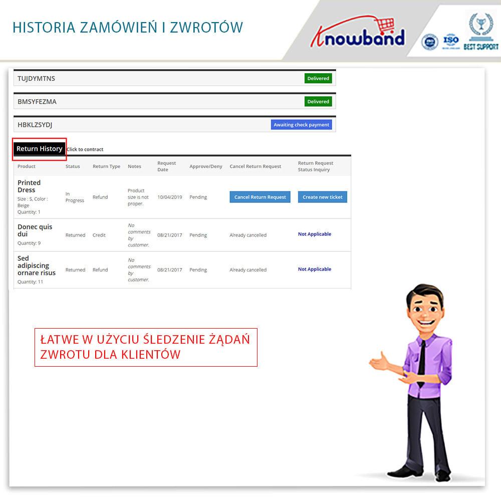 module - Serwis posprzedażowy - Knowband - Order Return Manager(Return Slip & Barcode) - 6