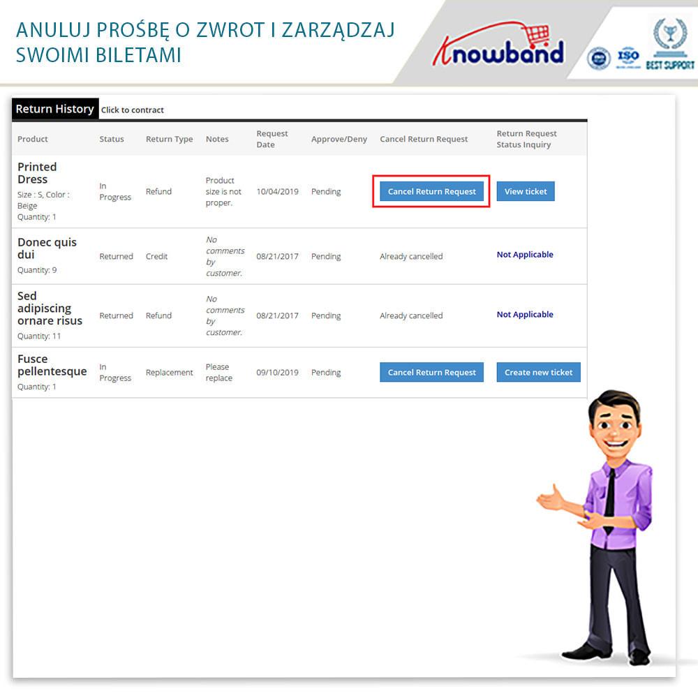 module - Serwis posprzedażowy - Knowband - Order Return Manager(Return Slip & Barcode) - 8