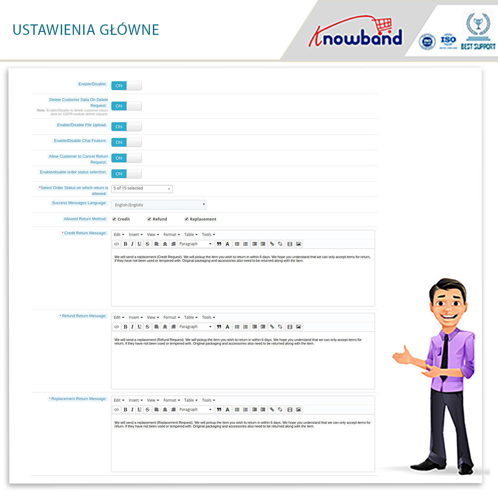 module - Serwis posprzedażowy - Knowband - Order Return Manager(Return Slip & Barcode) - 9